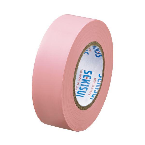 【スーパーセールでポイント最大44倍】(まとめ)セキスイ エスロンテープ #360 19mm×10m 桃 V360P1N(×100セット)