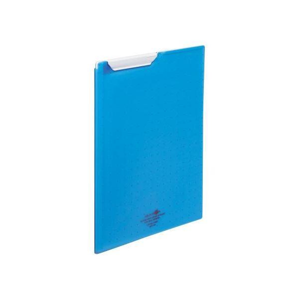 【スーパーセールでポイント最大44倍】(まとめ)LIHITLAB クリップファイルA4 青 F-5067-8【×10セット】