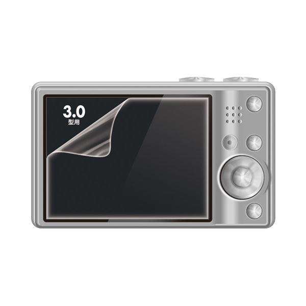 (まとめ) サンワサプライ 液晶保護光沢フィルム3.0型 DG-LCK30 1枚 【×30セット】