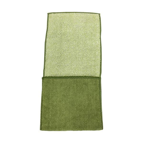 【··で··最大44倍】(まとめ)国産ポケット付きハンカチ グリーン 1枚 【×30セット】