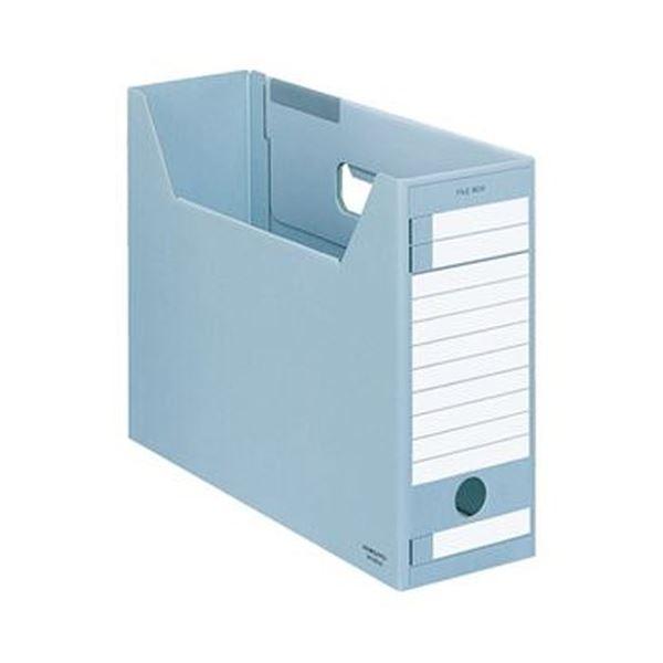 (まとめ)コクヨ ファイルボックス-FS(Eタイプ)(A4ジャスボックス)A4ヨコ 背幅102mm 青 A4-LFE-B 1セット(5冊)【×10セット】