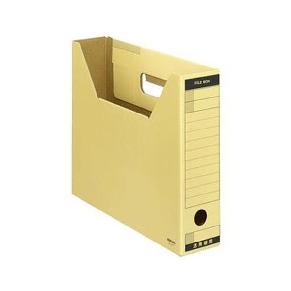 (まとめ)コクヨ ファイルボックス-FS(Tタイプ)A4ヨコ 背幅75mm クラフト色 A4-SFT 1セット(10冊)【×5セット】