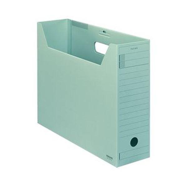 (まとめ)コクヨ ファイルボックス-FS(Fタイプ)B4ヨコ 背幅102mm 緑 フタ付 B4-LFFN-g 1セット(5冊)【×5セット】