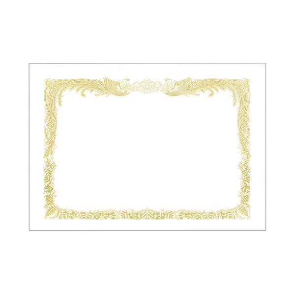 (まとめ) TANOSEE 賞状用紙 白 B4 タテ書用 1冊(10枚) 【×30セット】