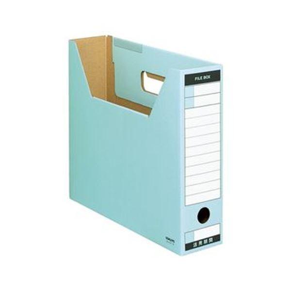 (まとめ)コクヨ ファイルボックス-FS(Tタイプ)A4ヨコ 背幅75mm 青 A4-SFT-B 1セット(10冊)【×5セット】