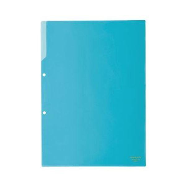 (まとめ)コクヨ クリヤーホルダー(2穴あき・カラー)A4 青 フ-750B 1セット(50枚)【×3セット】