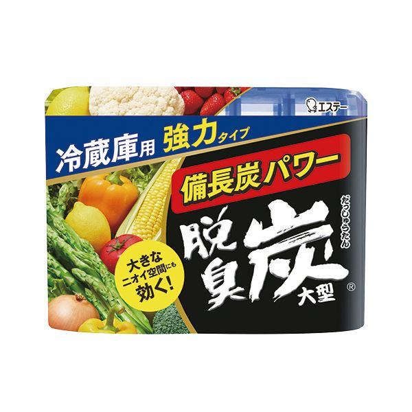 (まとめ) エステー 脱臭炭 冷蔵庫用大型 240g 1セット(3個) 【×10セット】