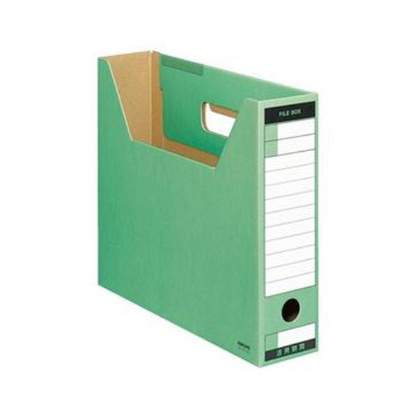 (まとめ)コクヨ ファイルボックス-FS(Tタイプ)A4ヨコ 背幅75mm 緑 A4-SFT-G 1セット(10冊)【×5セット】