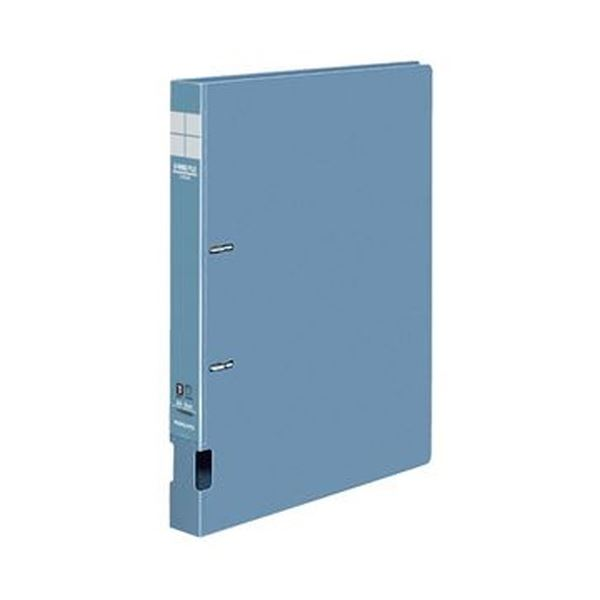 (まとめ)コクヨ DリングファイルS型再生PP表紙 A4タテ 2穴 200枚収容 背幅34mm 青 フ-FD420NB 1セット(10冊)【×3セット】