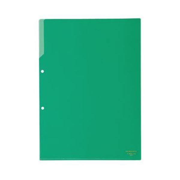 (まとめ)コクヨ クリヤーホルダー(2穴あき・カラー)A4 緑 フ-750G 1セット(50枚)【×3セット】
