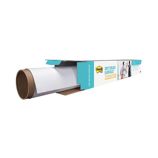 (まとめ)3M ポスト・イットホワイトボードフィルム 0.9×0.6m ホワイト 洗えるイレーサー 1枚入り DEF 3×2 1枚【×3セット】