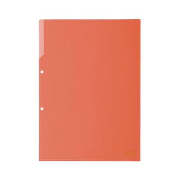 (まとめ)コクヨ クリヤーホルダー(2穴あき・カラー)A4 赤 フ-750R 1セット(50枚)【×3セット】