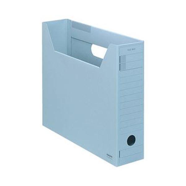 (まとめ)コクヨ ファイルボックス-FS(Fタイプ)A4ヨコ 背幅75mm 青 A4-SFFN-B 1セット(5冊)【×10セット】