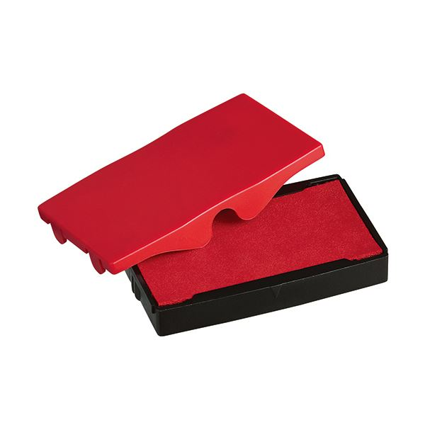 【スーパーセールでポイント最大43倍】(まとめ) シャイニー スタンプ内蔵型角型印S-853専用パッド 赤 S-853-7R 1個 【×30セット】