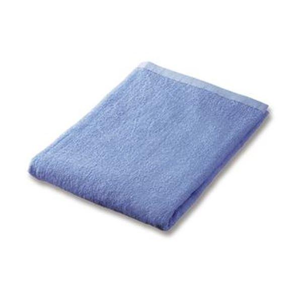 (まとめ)業務用スレンカラーバスタオルライトブルー 1枚【×20セット】