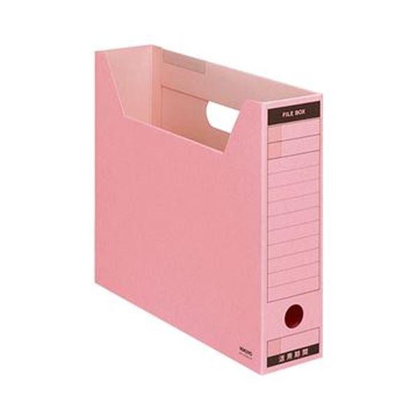 (まとめ)コクヨ ファイルボックス-FS(Bタイプ)A4ヨコ 背幅75mm ピンク A4-SFBN-P 1セット(5冊)【×10セット】