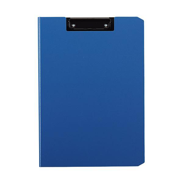 【スーパーセールでポイント最大44倍】(まとめ) TANOSEE クリップファイルA4タテ ブルー 1枚 【×30セット】