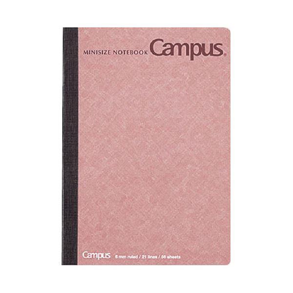 (まとめ)コクヨ キャンパスノート(ミニサイズ)A6 56枚 表紙赤 ノ-226BN-R 1セット(10冊)【×5セット】