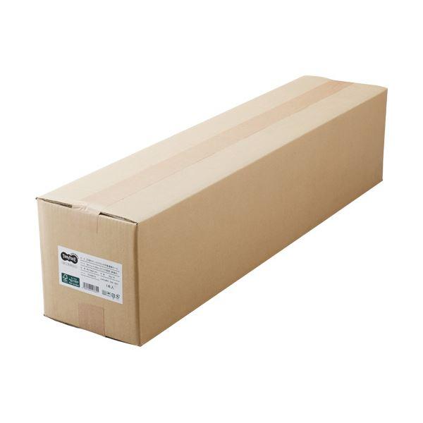 (まとめ)TANOSEEPPC・LEDプロッタ用普通紙 A0ロール 841mm×200m 3インチ紙管 素巻き 1本【×3セット】