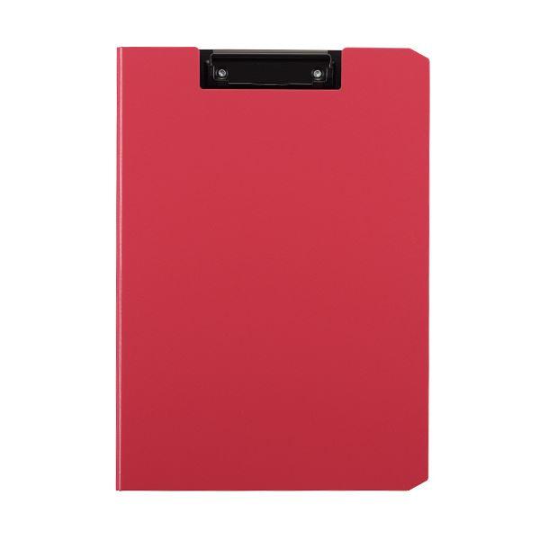 (まとめ) TANOSEE クリップファイルA4タテ ピンク 1枚 【×30セット】
