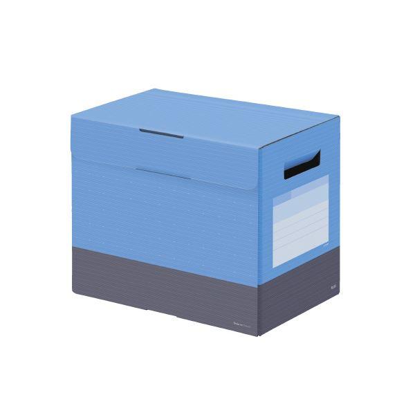 (まとめ)プラス ボックスファイルフタ付200mm スカイブルー【×30セット】