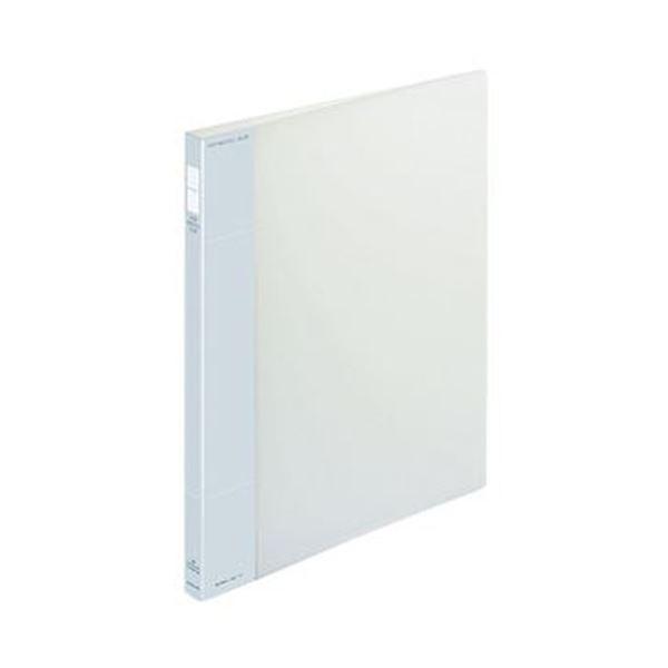 (まとめ)コクヨ ポップリングファイル(スリム)A4タテ 2穴 100枚収容 背幅21mm 透明 フ-PS410T 1セット(10冊)【×3セット】