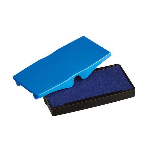 (まとめ) シャイニー スタンプ内蔵型角型印S-854専用パッド 青 S-854-7BL 1個 【×30セット】