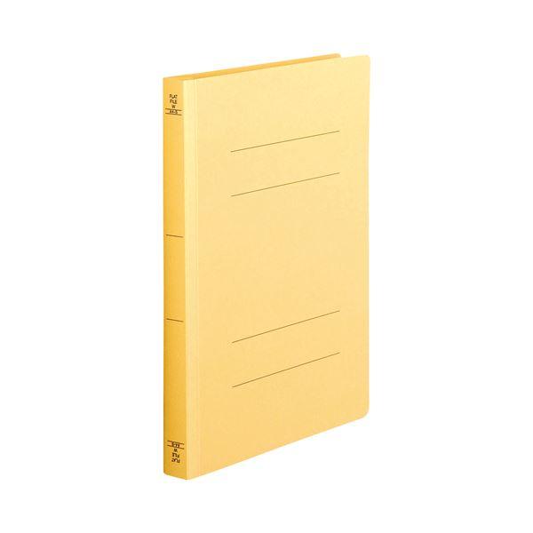 【スーパーセールでポイント最大44倍】(まとめ) TANOSEE フラットファイル(厚とじW) A4タテ 250枚収容 背幅28mm 黄 1セット(10冊) 【×10セット】