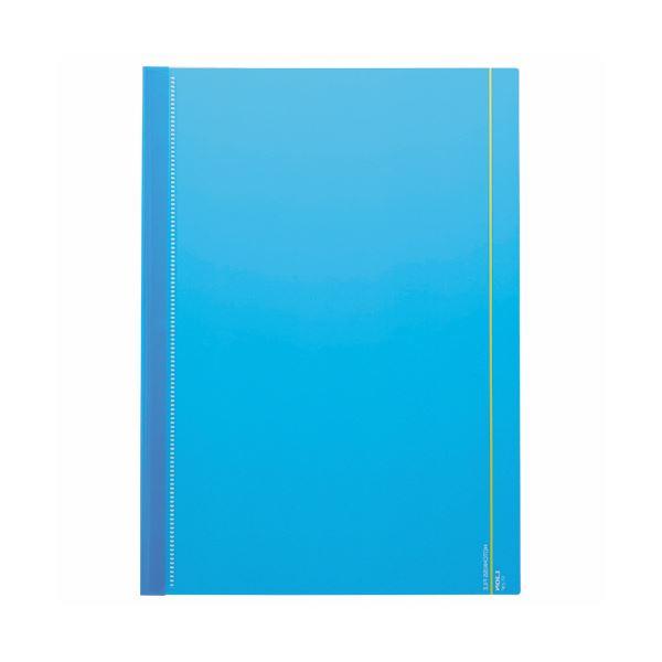 【スーパーセールでポイント最大44倍】(まとめ) ライオン事務器 ホチキスファイルA4タテ 20枚収容 ブルー ST-23P 1パック(3冊) 【×50セット】