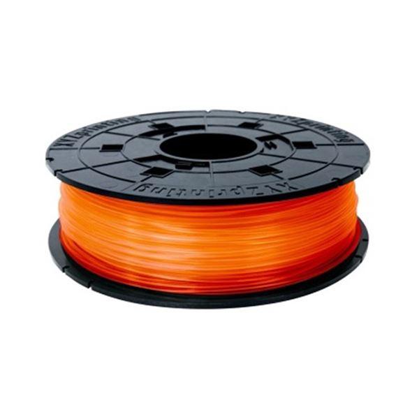 (まとめ)XYZプリンティングジャパン ダヴィンチJr. 専用 フィラメント(PLA樹脂) クリアオレンジ 600g RFPLCXJP07F 1個【×3セット】