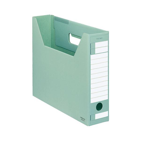 (まとめ) コクヨ ファイルボックス-FS(Dタイプ) A4ヨコ 背幅75mm 緑 A4-SFD-G 1セット(5冊) 【×10セット】