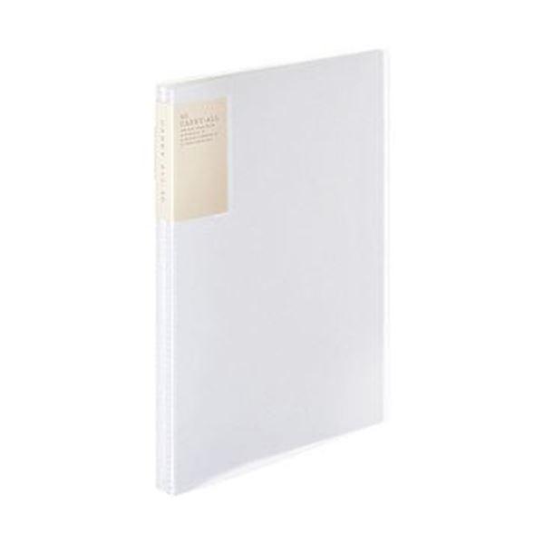 (まとめ)コクヨ クリヤーブック(キャリーオール)固定式・背ポケット A4タテ 40ポケット 背幅22mm 透明 ラ-5003T 1セット(6冊)【×3セット】