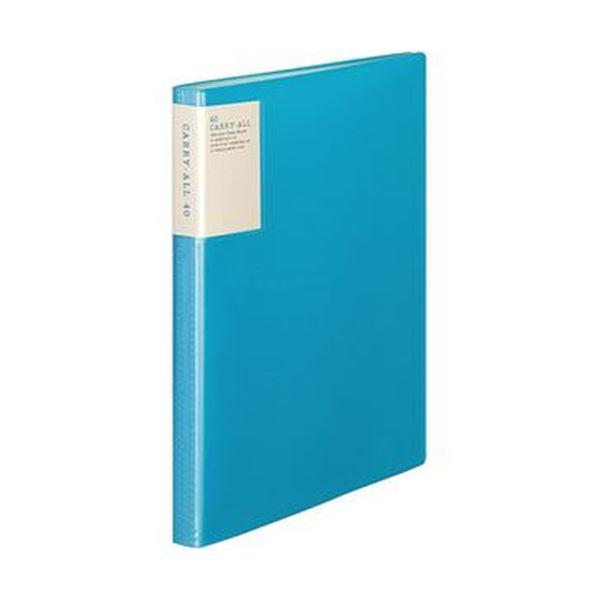 (まとめ)コクヨ クリヤーブック(キャリーオール)固定式・背ポケット A4タテ 40ポケット 背幅22mm 青 ラ-5003B 1セット(6冊)【×3セット】