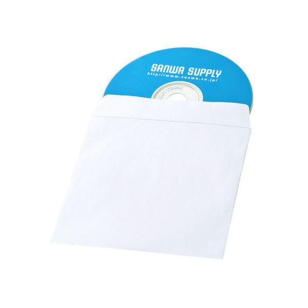 (まとめ) サンワサプライDVD・CDペーパースリーブケース(窓なしタイプ) FCD-PS100NWW 1パック(100枚) 【×10セット】