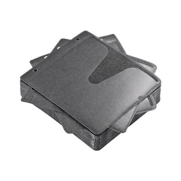 (まとめ) サンワサプライブルーレイディスク対応不織布ケース リング穴付 ブラック FCD-FRBD50BK 1パック(50枚) 【×10セット】