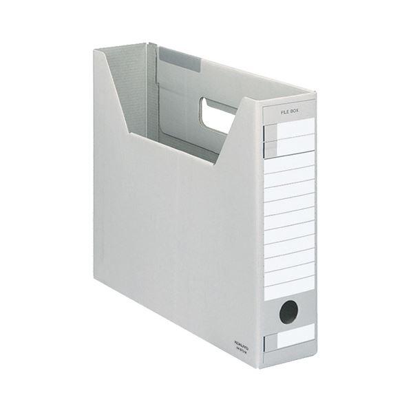 (まとめ) コクヨ ファイルボックス-FS(Dタイプ) A4ヨコ 背幅75mm グレー A4-SFD-M 1セット(5冊) 【×10セット】
