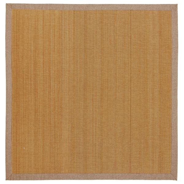 竹ラグ/ラグマット 【約180cm×180cm ベージュ】 正方形 表面:竹100% 弾力性抜群 『カナパ2』 〔リビング ダイニング〕【代引不可】