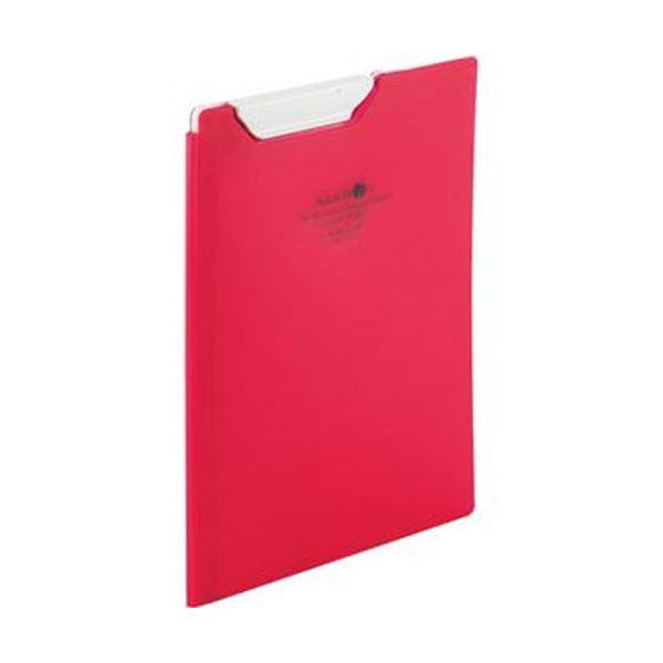 (まとめ)リヒトラブ AQUA DROPsクリップファイル A5 赤 F-5065-3 1枚【×20セット】