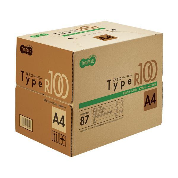 (まとめ) TANOSEE αエコペーパータイプR100 A4 1箱(2500枚:500枚×5冊) 【×5セット】