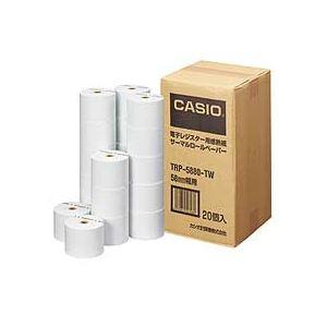 カシオ CASIO 電子レジスター用 ロールペーパー 紙幅58mm 感熱紙タイプ TRP-5880-TW 1パック(20個) 【×10セット】