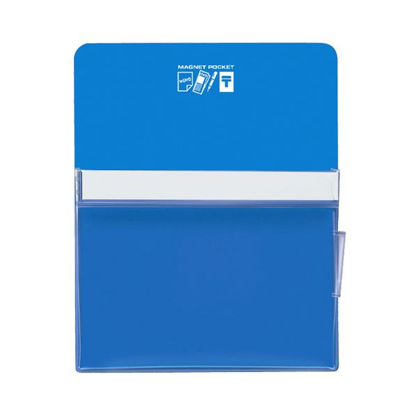 コクヨ マグネットポケット A4300×240mm 青 マク-500NB 1セット(6個)