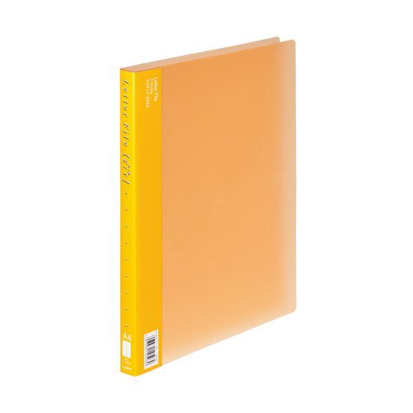 (まとめ) ライオン事務器PPレターファイル(エール) A4タテ 120枚収容 背幅18mm オレンジ LF-363A-D 1冊 【×30セット】