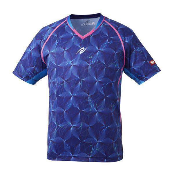 【スーパーセールでポイント最大44倍】Nittaku(ニッタク) 卓球ゲームシャツ MOVERUFFLE SHIRT ムーブラッフルシャツ 男女兼用ネイビーL