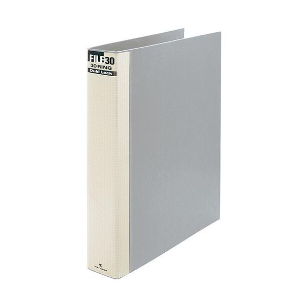 (まとめ) マルマン ダブロックファイル A4タテ 30穴 250枚収容 背幅44mm グレー F949R-11 1冊 【×10セット】