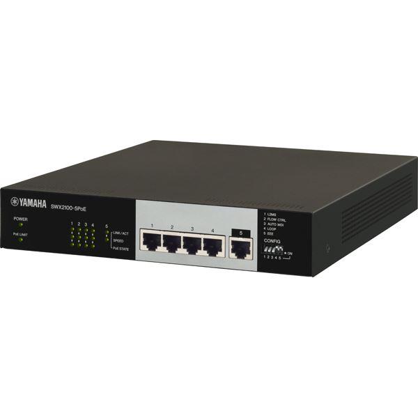 ヤマハ シンプルL2スイッチ 5ポート PoE給電対応 SWX2100-5PoE