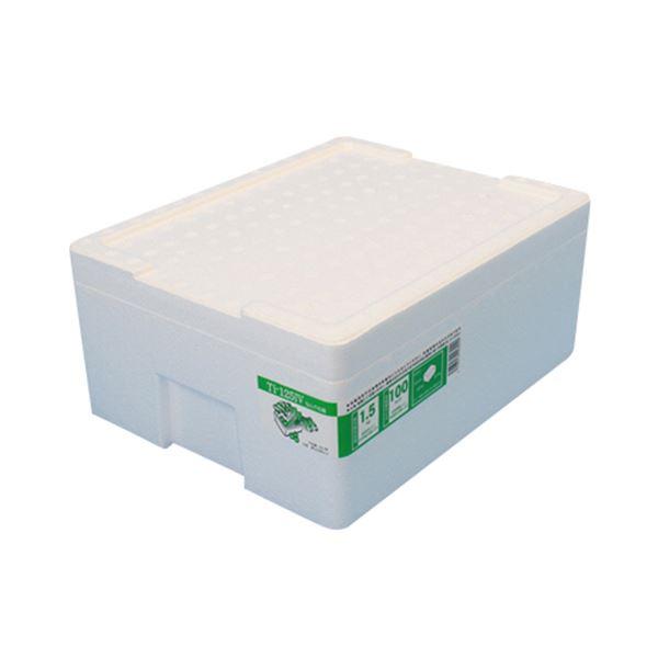(まとめ)石山 発泡容器 なんでも箱 12.7L ホワイト TI-125IV 1個【×10セット】