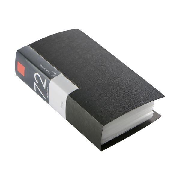 (まとめ) バッファローCD&DVDファイルケース ブックタイプ 72枚収納 ブラック BSCD01F72BK 1個 【×10セット】