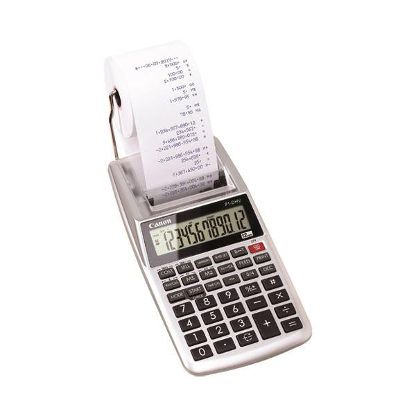 【スーパーセールでポイント最大44倍】(まとめ)キヤノン プリンタ電卓 P1-DHV-3【×5セット】