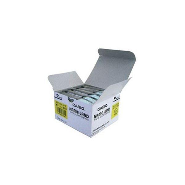 CASIO ネームランド NAME LAND スタンダードテープ 黄テープ 黒文字 5本入 卓抜 アウトレットセール 特集 XR-9YW-5P-E 9mm幅 スーパーセールでポイント最大44倍