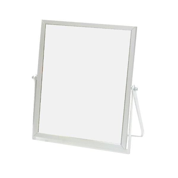(まとめ) 卓上鏡/スタンドミラー 【アルミ シルバー】 204×175×奥行10mm 【72個セット】